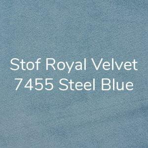 Stof Royal Velvet 7455 Steel Blue