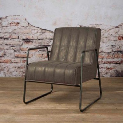 Tower Living Fauteuil 'Santo' - Miami 002 grey
