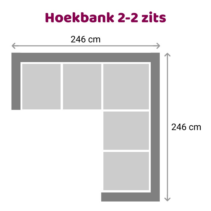 Zitzz Hoekbank Vettel 2-2 zits