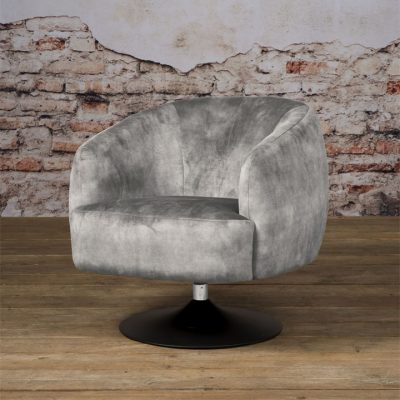 Fauteuil Barga - Stof Velvet Bliss 4 Grey