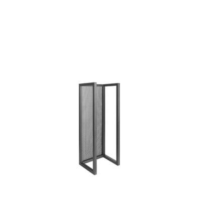 LABEL51 Haardhout Rek Zwart Metaal 30x25x80 cm