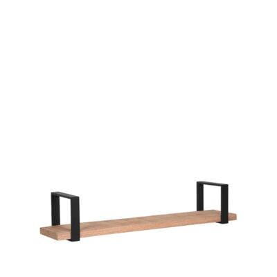 LABEL51 Wandplank Slam 100x23x20 cm Zwart