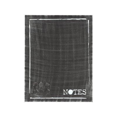 Label51 Memobord Antiek zwart metaal 36x3x46 cm
