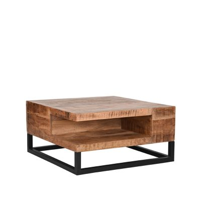LABEL51 - Salontafel_Cube_Rough_Mangohout_80x80x40_cm_Perspectief